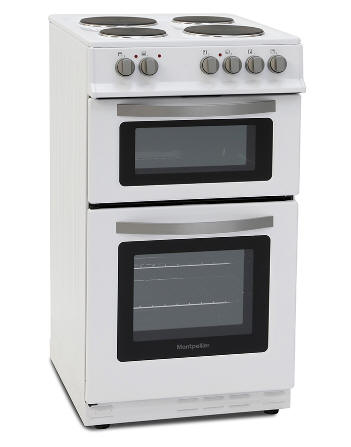 50cm Montpellier MTE51W Twin Cavity Electric Cooker
